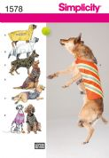 1578 Simplicity Pattern: Large Size Dog Clothes